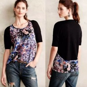 Yellow Bird Anthropologie 'Last Act' Floral Blouse